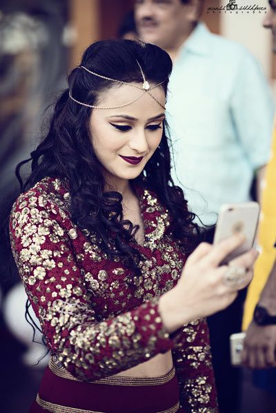 head chain, mehendi jewellery, head chain with two strands, funky bridal jewellery, sister of the bride jewellery