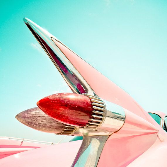 Pink Cadillac, Classic, Basic Automotive, High quality Artwork {Photograph}, Pink Fin