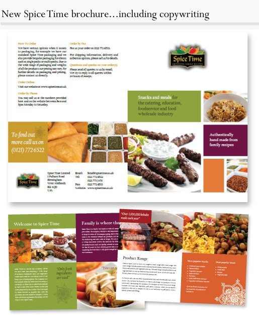 Spice Time - Design of food brochure www.theclipgroup.com
