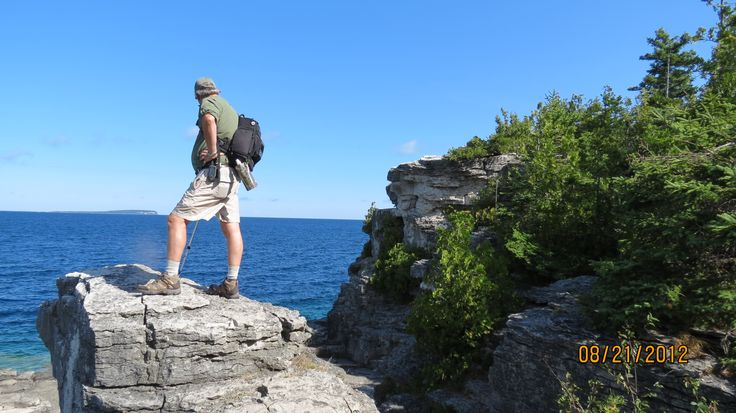 Exploring the Grotto in the Bruce Peninsula National Park near Tobermory.