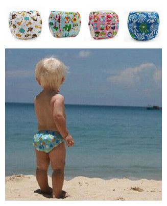 Costumi da bagno swim diaper leakproof riutilizzabile regolabile per infantile del bambino della ragazza del bambino 0 3  Anni 1 2 3 4 5 6 7 8 9 10 12 11 mesi