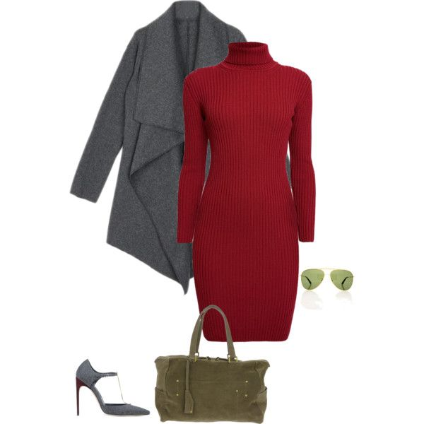 This is a complementary color scheme from the deep autumn color palette. The red and green are opposite each other on the color wheel.  Notice that the deep autumn maroon is more of a rich deep red. Deep autumns look amazing in olive green.  Here's another deep autumn outfit idea using a d