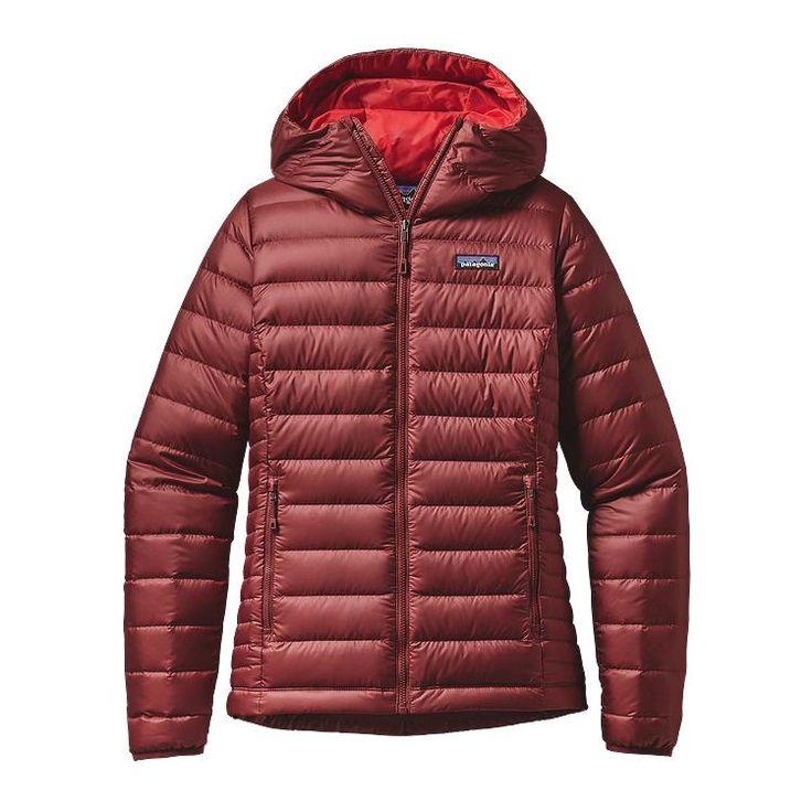 Patagonia Women\'s Down Sweater Hoody - Drumfire Red DRMF