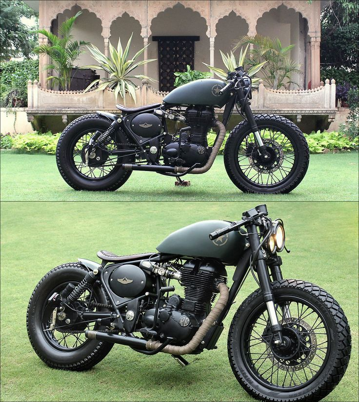 Royal Enfield 500 - Rajputana Custom Motorcycles  Want the back fender and the spoke wheels for my cafe build