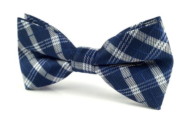 Self tie bow tie - Blue, red and beige plaid Notch