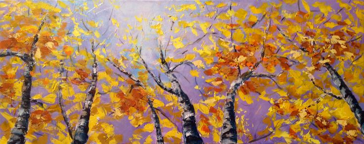 Palette knife acrylic called 'Daydreaming' by Piroska Pipo leaves you feeling like you actually are in a daydream
