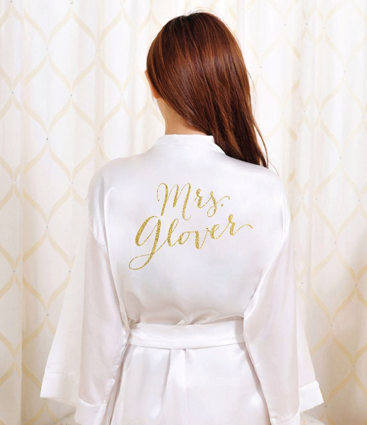 Gold Glitter Bridal Robe - Bride Bathrobe Satin Cover - Bridal Dressing Robe - Gold Glitter Wedding - Bridal Lingerie Shower Gift by SixpencePress on Etsy https://www.etsy.com/listing/261353578/gold-glitter-bridal-robe-bride-bathrobe