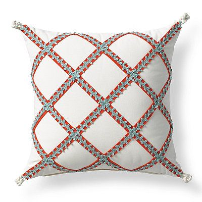 Tropical Lattice Outdoor Pillow - Frontgate