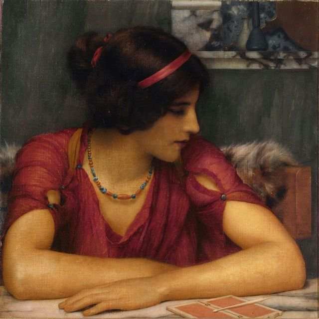 John William Godward - The Letter (A Classical Maiden) (1899)