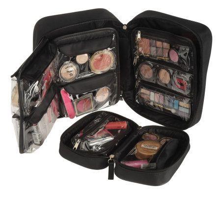 travel makeup bag-- just a bigger makeup bag. Or a box type thing.