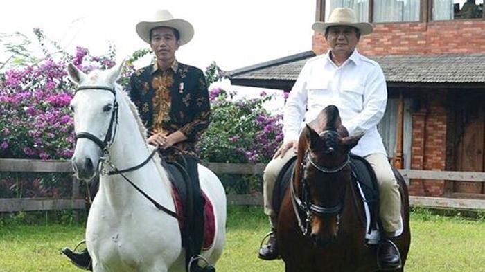 Ini Kata Prabowo saat Jokowi Naik Kuda Putih di Bogor
