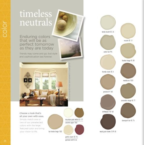 Timeless neutrals color benjamin moore paint color for Neutral brown paint colors