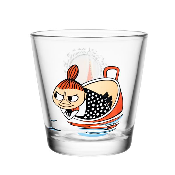 Moomin glass called Little My floating.