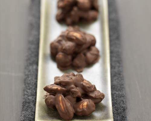 Crujientes de chocolate y frutos secos