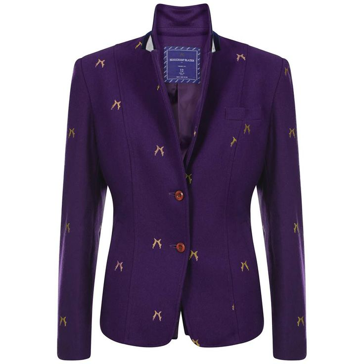 Get that preppy look with Sporting Hares Beauchamp Blazer in Violet! Team with your skinny jeans, long boots and dazzle with your favourite handbag! Made with a luxurious wool blend, taffeta silk lining and velvet under-collar. This jacket is a must have! #sportinghares #beauchampblazer #deepblue Only £155.00! Visit our website for more info! www.lofthouse-equestrian.co.uk