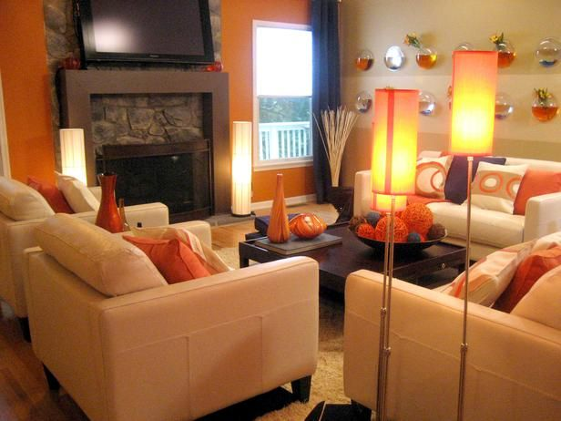 46 Best Orange Accent Images On Pinterest Living Room