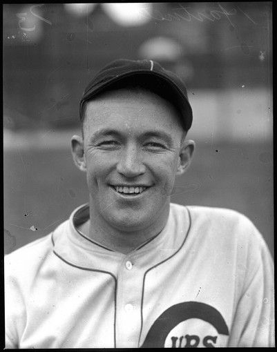 "Gabby Hartnett on October 19, 1932. Charles Leo ""Gabby"" Hartnett played almost his entire major league baseball career as a catcher for the Chicago Cubs."