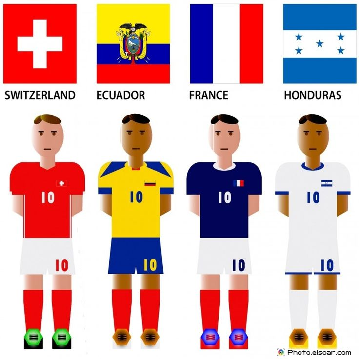 #WorldCup 2014 Group E Teams with #Flags: Switzerland, Ecuador, France, Honduras