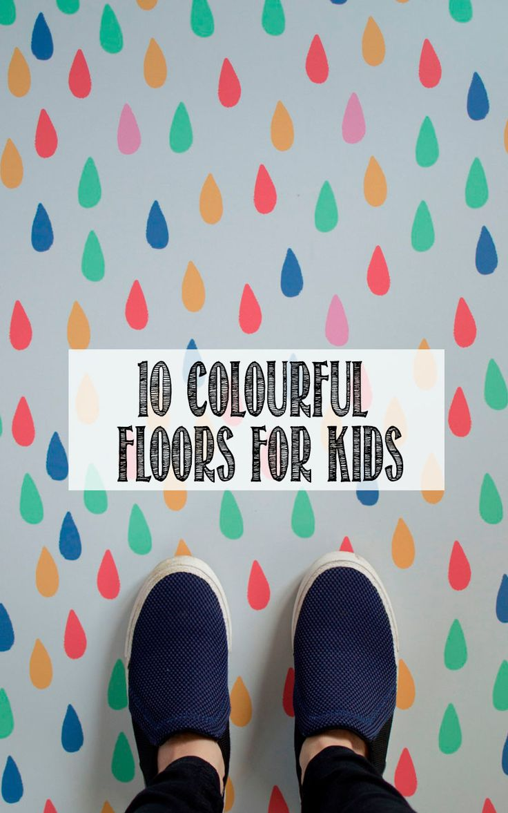 colourful floor for kids