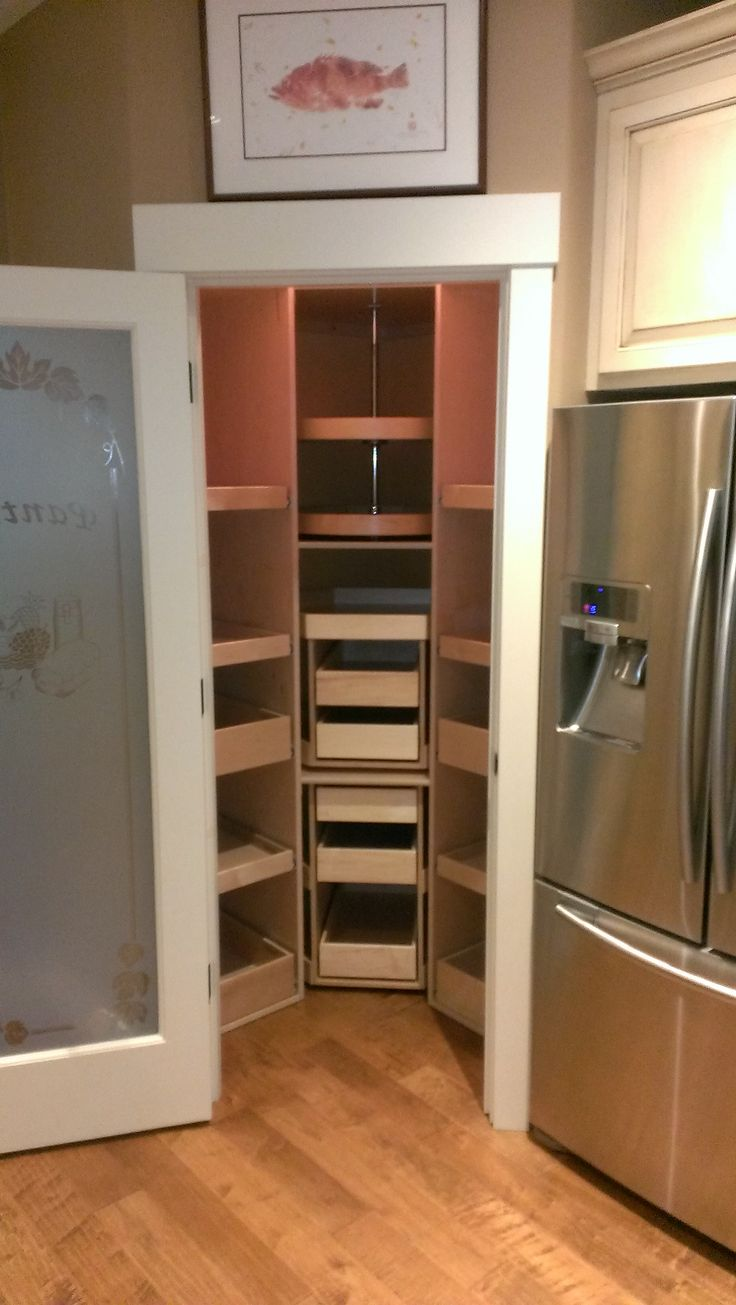 Optimize The Storage Space In A Corner Pantry With Custom