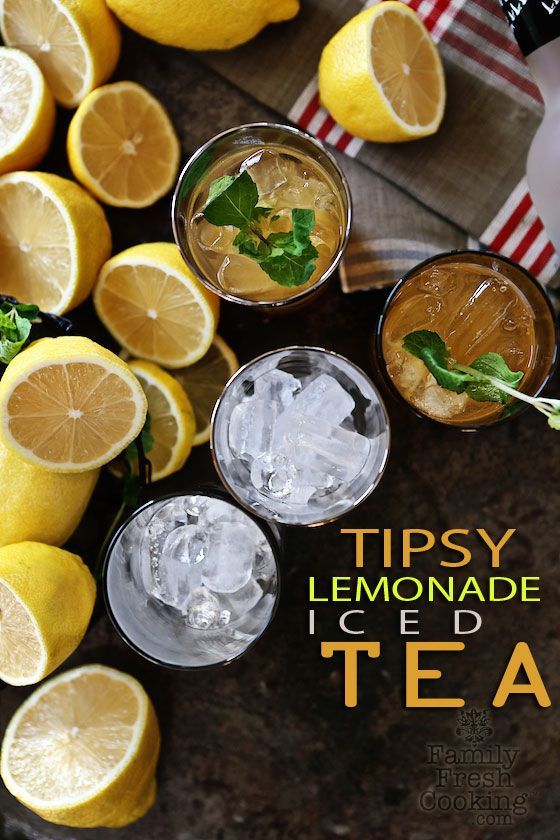 Tipsy Lemonade Iced Tea | Cocktail Recipe | FamilyFreshCooking.com