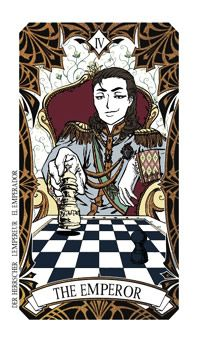March 26 Tarot Card: The Emperor (Magic Manga deck) Your powers of persuasion are strong now ... don't miss this chance to go out and make something happen