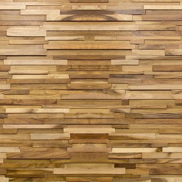 3d Stacked Oil Finished Natural Acacia 7 5 Walling Peel And Stick Wood Stick On Wood Wall Wood Panel Walls