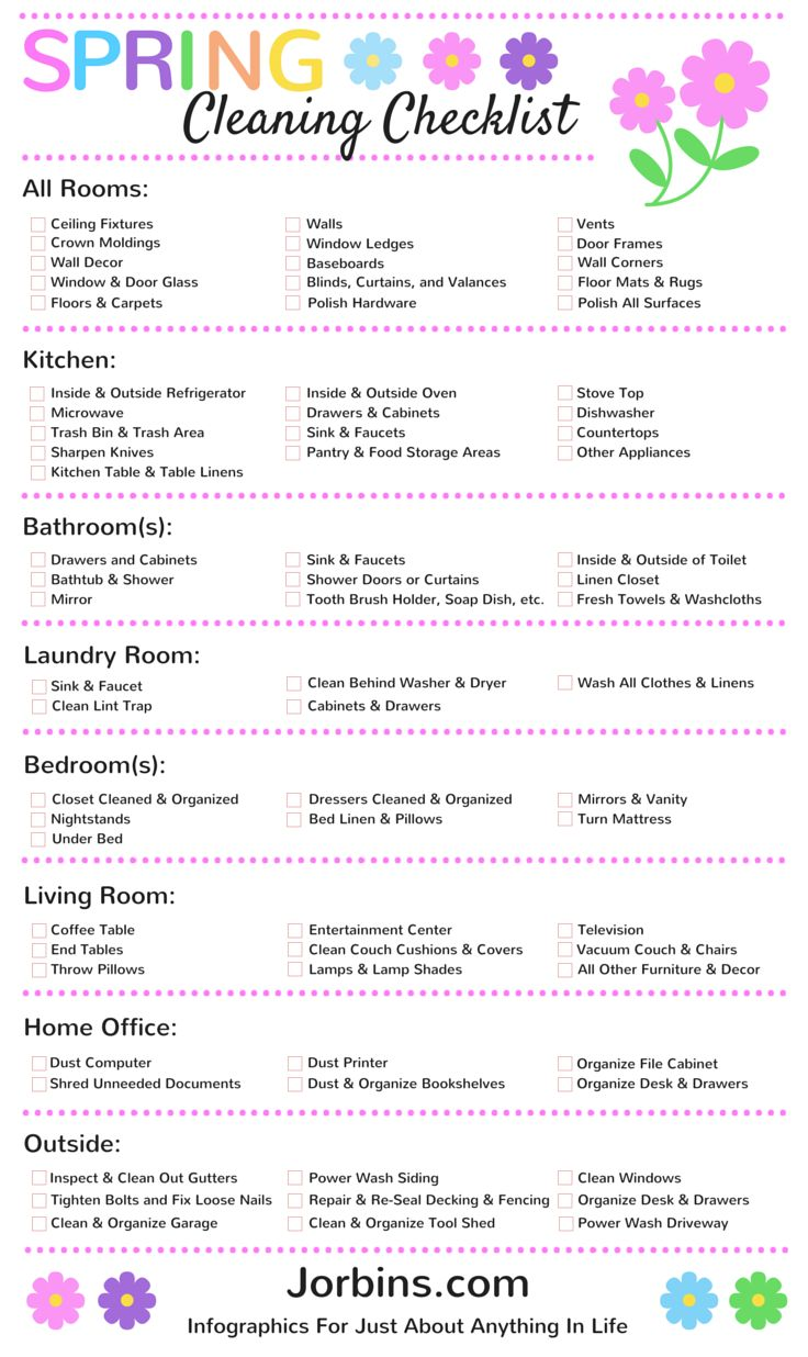 Spring Cleaning Checklist                                                                                                                                                     More