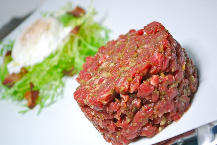 Tendergrass Farms Grass Fed Beef Tartare  4servings: 1 pound ground lean beef 2 teaspoon fine chopped capers 4 tablespoon fine chopped red onions 2 tablespoon Dijon mustard 3 egg yolks 4 tablespoon fine chopped parsley Salt & fresh ground black pepper  Combine all ingredients and serve chilled!  Recipe courtesy of Sheraton Atlanta Hotel Executive Chef Marc Suennemann. You rock, Marc!
