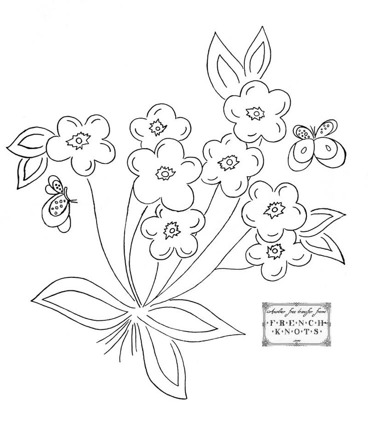 Printable Hand Embroidery Transfer Patterns – Quotes of the Day