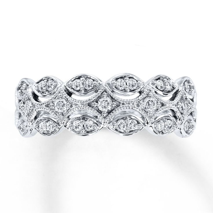 Diamond Anniversary Band 1/4 ct tw Round-cut 10K White Gold