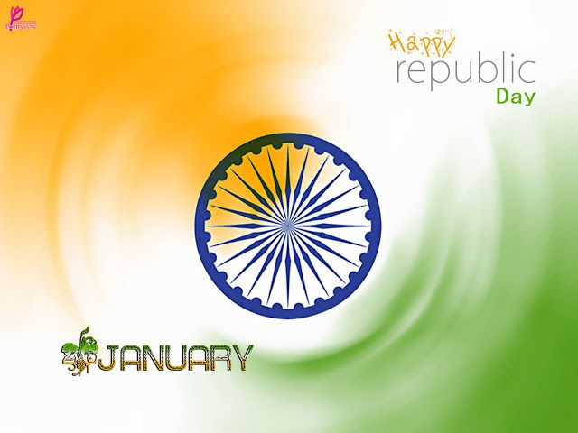 26 January Republic Day Wishes Messages Fag Card Image Wheel Picture Republic Day of India Wallpaper
