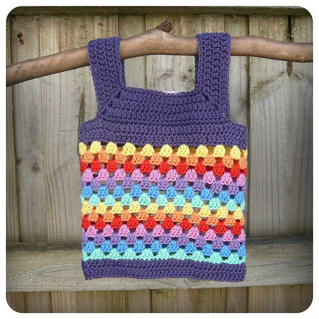 Ravelry: Little Granny Vest crochet pattern by Shara Lambeth - so cute!