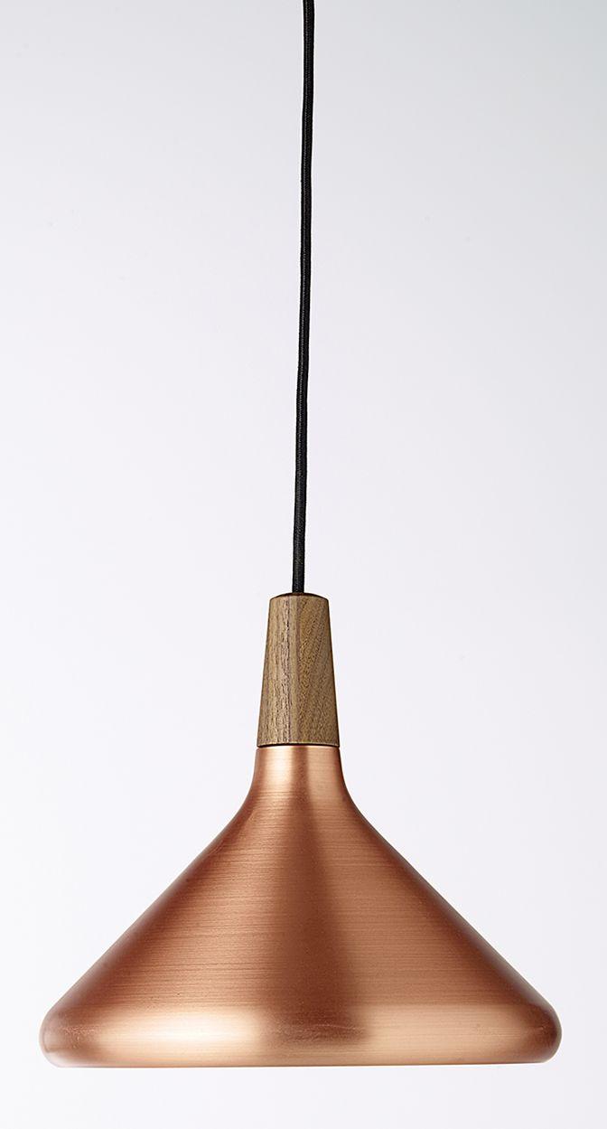 Une suspension en cuivre avec une touche de bois pour une déco ultra tendance- Suspension COLOURS Float. #cuivre