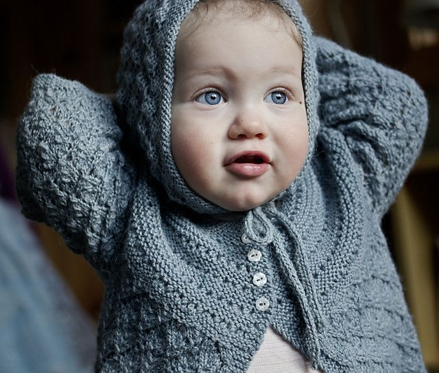 Lucille baby cardigan by Courtney Kelley #knitting #Ravelry #freepattern