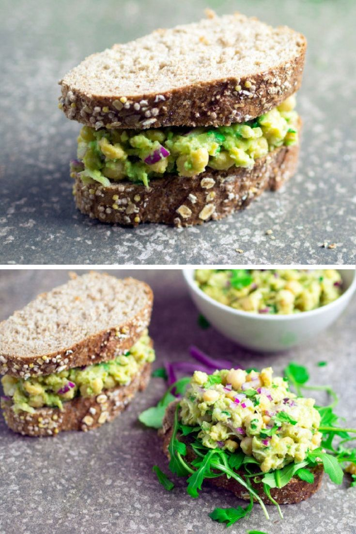 This simple chickpea avocado sandwich recipe takes the fuss out of lunch.  It's really quick and easy to put together and uses just a few basic ingredients. And it's super healthy!