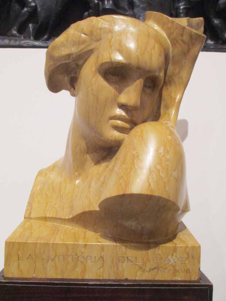 """La Vittoria del Piave"" by Arrigo Minerbi (Italian, 1881-1960). Marble, wood, gilt; 1917."