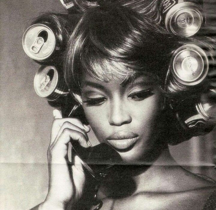 The Coke Cans! Naomi Campbell