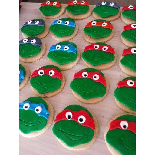 Tortugas ninja!  #GalletasTemáticas #GalletasTortugasNinja con @Dulcycandy tus fiestas personalizadas  #GalletasPalmira