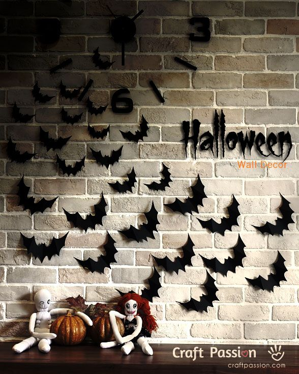 Bats Flying Wall Decor Diy Crafts Home Design Decorations