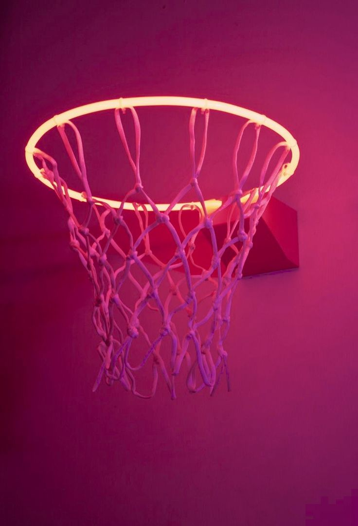 The photos are in 4x6! hot pink led light basketball goal aesthetic   Neon wall