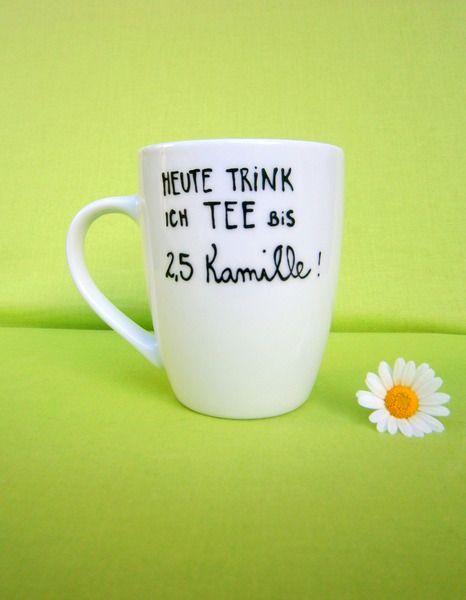 Tasse mit Spruch ♥  Spruchtasse Teetasse  von hochdietassen auf DaWanda.com