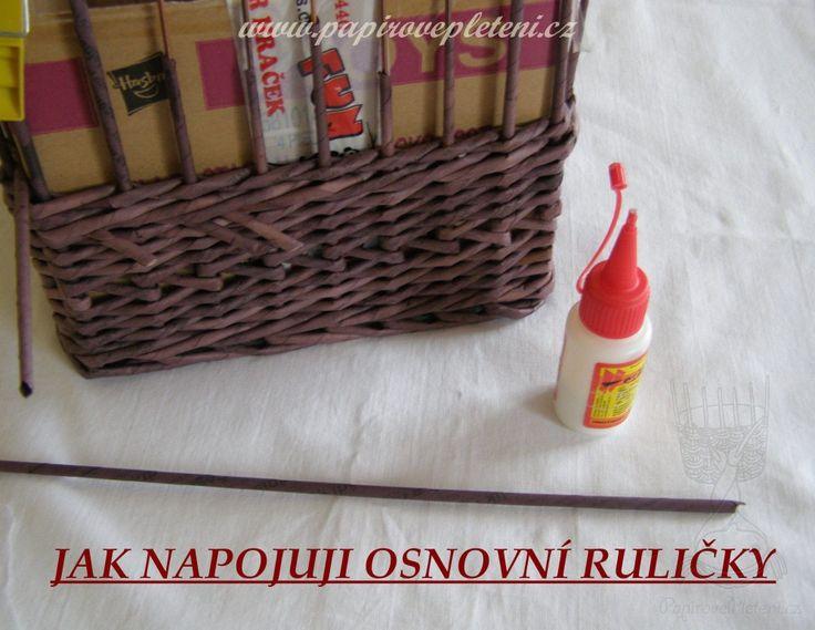 Jak napojuji osnovní ruličky - Papírové pletení