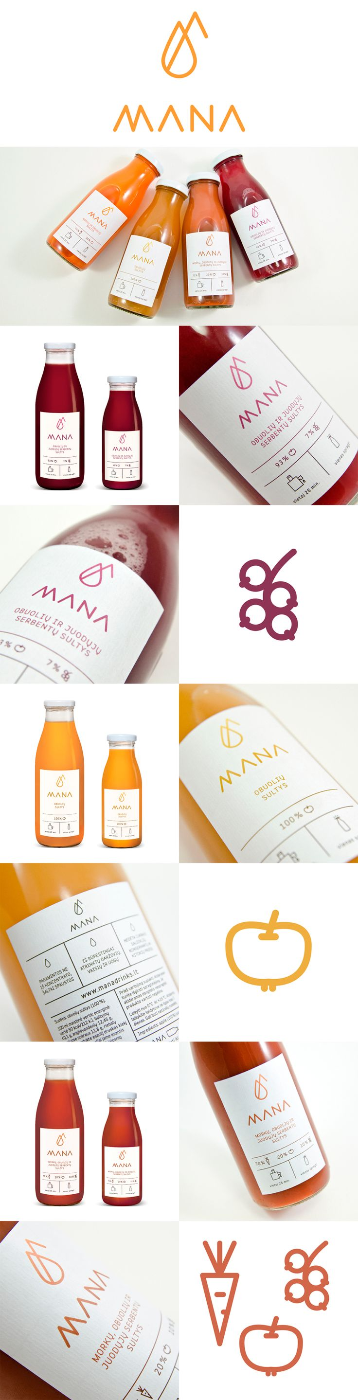 label / mana / juice / food / drink / minimal