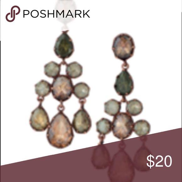 Stella and dot earrings Stella and dot earrings . Vintage feel , very pretty!! Never worn Stella & Dot Jewelry Earrings
