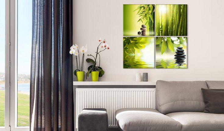 Obraz na plátně - Zelený klid #canvas #prints #obraz #decor #inspirace #home #barvy #pictureframes #zen #klid