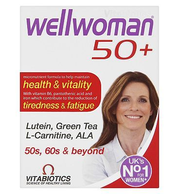 Vitabiotics Wellwoman 50 plus - 30 tablets 10072511 20 Advantage card points. Wellwoman 50 plus is an advanced vitamin and mineral formula specifically designed to help safeguard the special nutritional requirements for women aged 50 and above.See deta http://www.MightGet.com/february-2017-1/vitabiotics-wellwoman-50-plus--30-tablets-10072511.asp