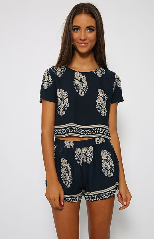 Raven Set - Navy   Back In Stock   Clothes   Peppermayo