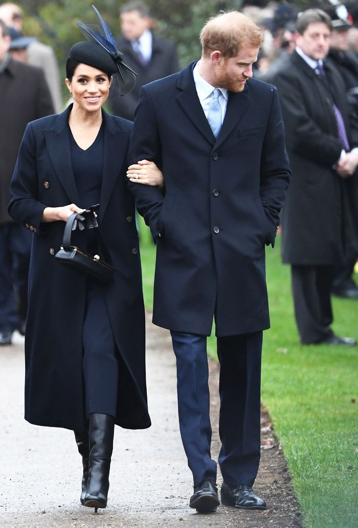 What Kate Middleton and Meghan Markle wore to their Christmas Day service.  Click to see and shop the looks. 0cd7536a3cd9