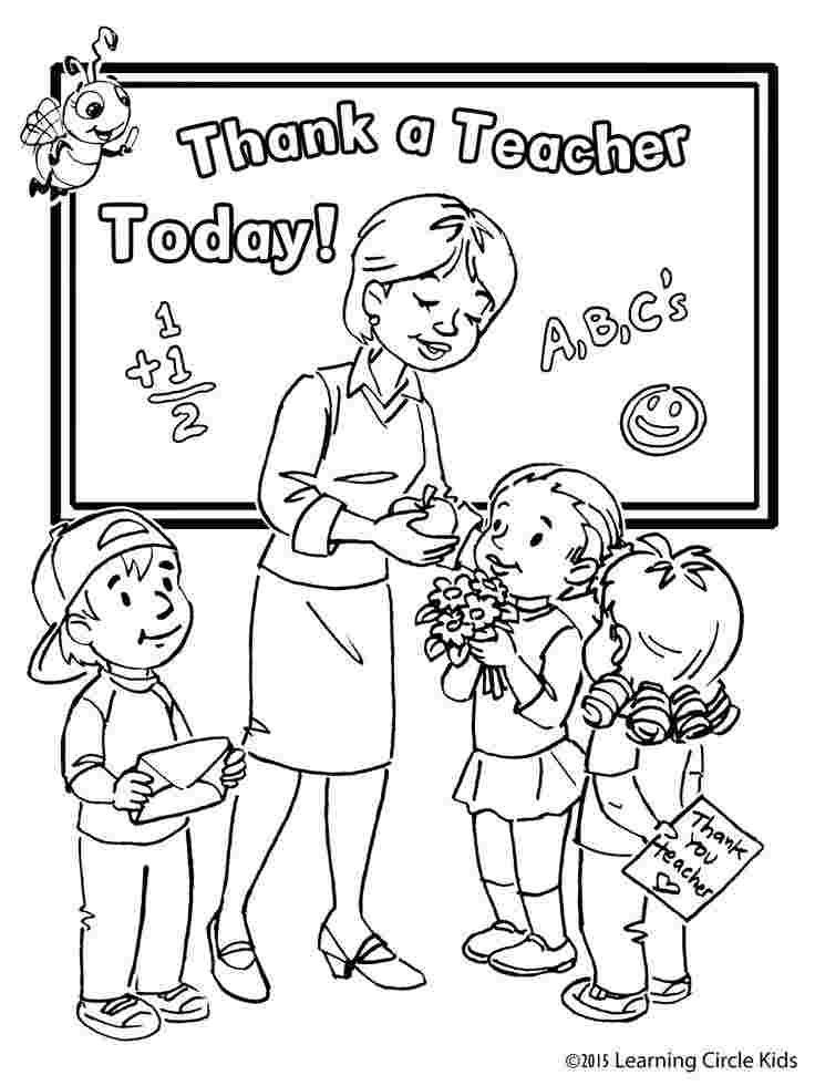 Coloring Pages Teacher Appreciation Teachersdaycard In 2020